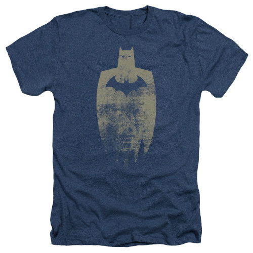 Image for Batman Heather T-Shirt - Gold Silhouette
