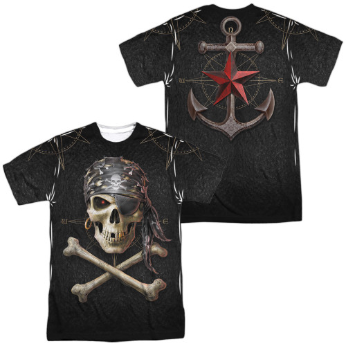 Image for Anne Stokes Sublimated T-Shirt - Pirate Skulls 100% Polyester