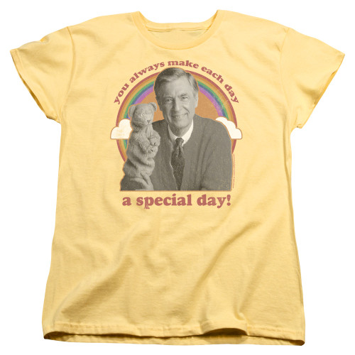 Image for Mr. Rogers Woman's T-Shirt - A Special Day