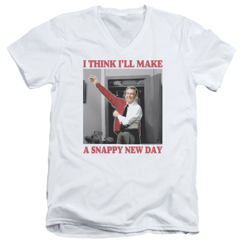 Image for Mr. Rogers T-Shirt - V Neck - A Snappy New Day