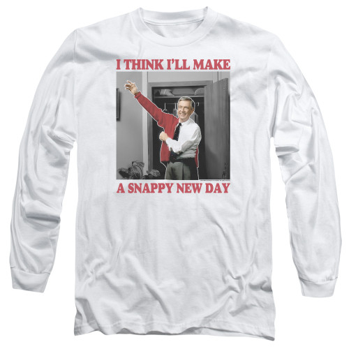 Image for Mr. Rogers Long Sleeve T-Shirt - A Snappy New Day