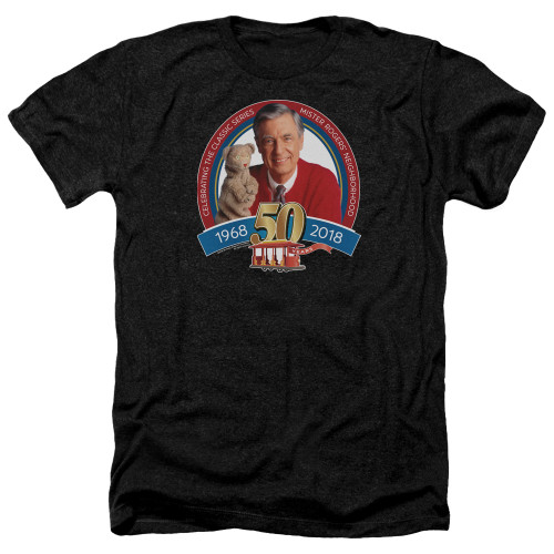 Image for Mr. Rogers Heather T-Shirt - 50th Anniversary Design