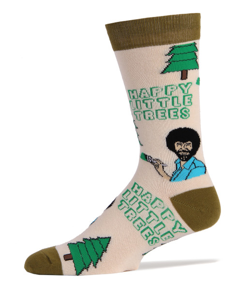 Image for Bob Ross Happy Little Trees Socks