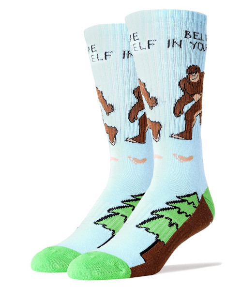 Image for Bigfoot Believe in Yourself Socks