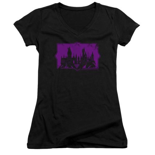 Image for Fantastic Beasts: the Crimes of Grindelwald Girls V Neck - Howarts Silhouette