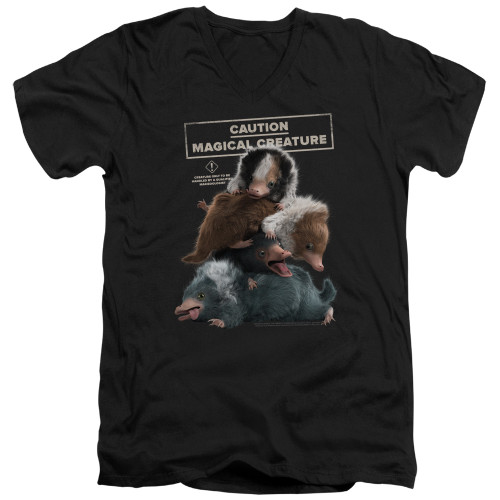 Image for Fantastic Beasts: the Crimes of Grindelwald V Neck T-Shirt - Cuddle Puddle