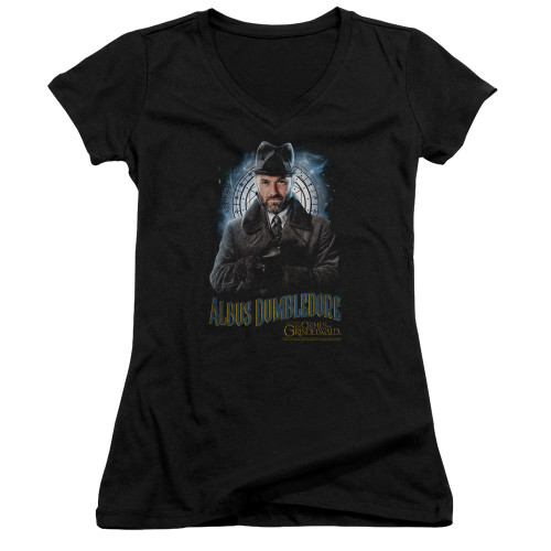 Image for Fantastic Beasts: the Crimes of Grindelwald Girls V Neck - Dumbledore