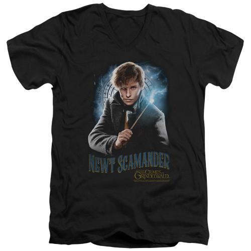 Image for Fantastic Beasts: the Crimes of Grindelwald V Neck T-Shirt - Scamander Monogram