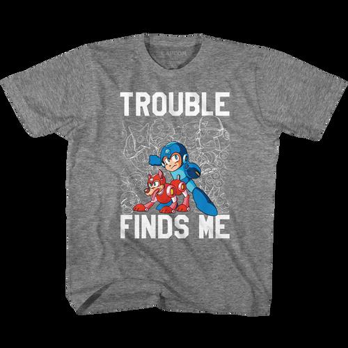 Image for Mega Man Trouble Youth T-Shirt