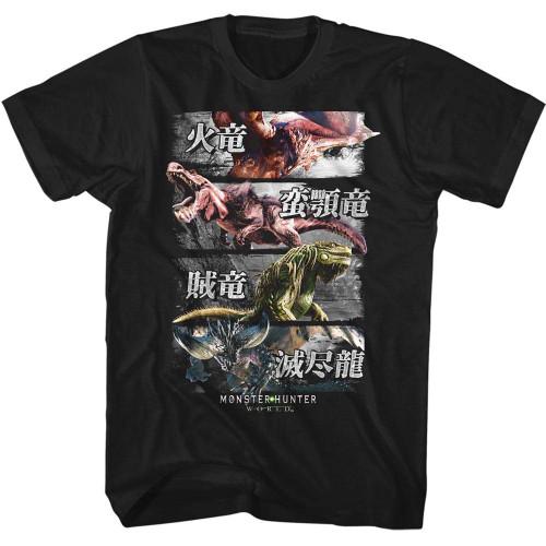 Image for Monster Hunter 4 Monsters T-Shirt