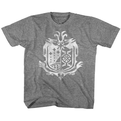 Image for Monster Hunter Weathered World Emblem Youth T-Shirt