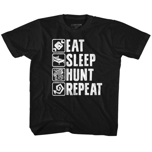 Image for Monster Hunter Hunt Repeat Youth T-Shirt