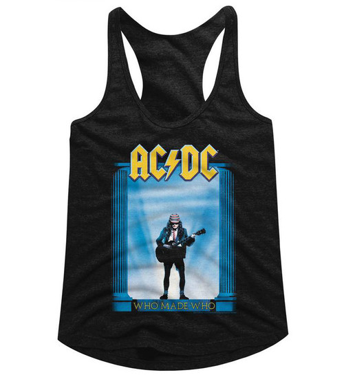 Image for AC/DC Who Made Who Classic Juniors Racerback Tank Top