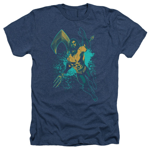 Image for Aquaman Movie Heather T-Shirt - Make a Splash