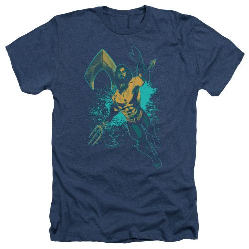 Image for Aquaman Movie Heather T-Shirt - Make a Splash