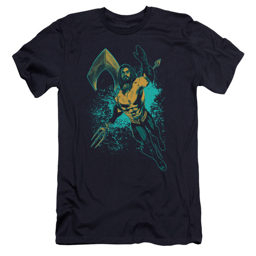 Image for Aquaman Movie Premium Canvas Premium Shirt - Make a Splash