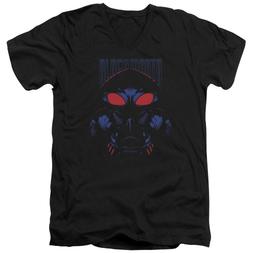 Image for Aquaman Movie V Neck T-Shirt - Black Manta