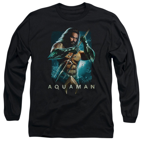 Image for Aquaman Movie Long Sleeve Shirt - Trident
