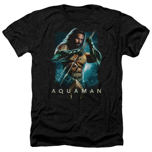 Image for Aquaman Movie Heather T-Shirt - Trident