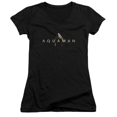 Image for Aquaman Movie Girls V Neck - Logo