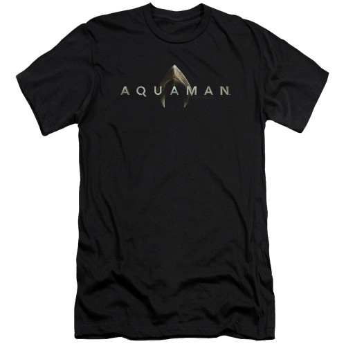 Image for Aquaman Movie Premium Canvas Premium Shirt - Logo