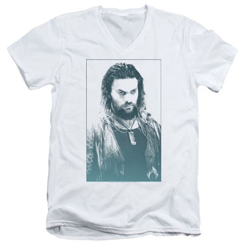 Image for Aquaman Movie V Neck T-Shirt - Salt of the Sea