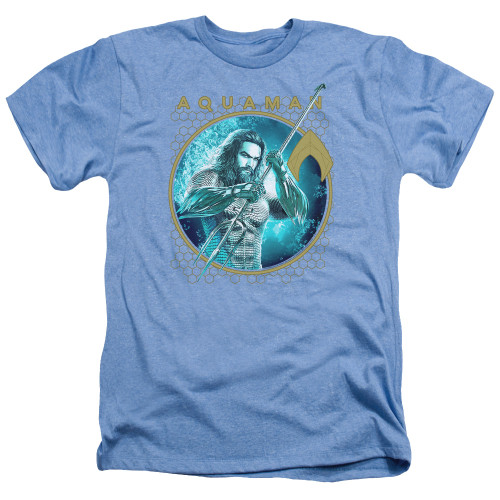 Image for Aquaman Movie Heather T-Shirt - Trident of Neptune