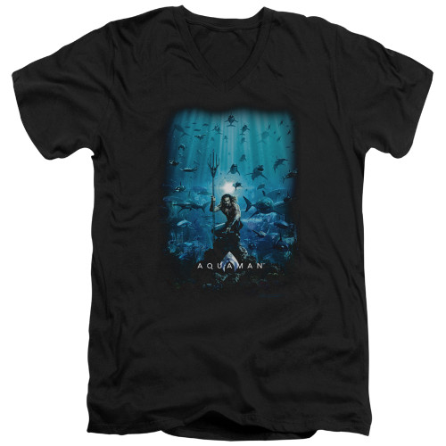 Image for Aquaman Movie V Neck T-Shirt - Poster