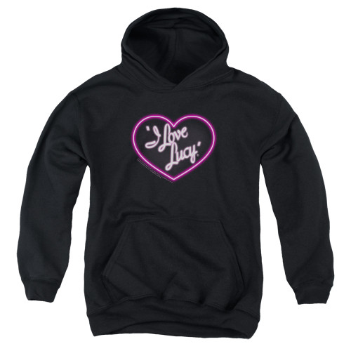Image for I Love Lucy Youth Hoodie - Neon Logo