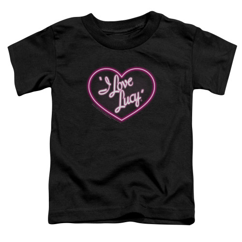 Image for I Love Lucy Toddler T-Shirt - Neon Logo