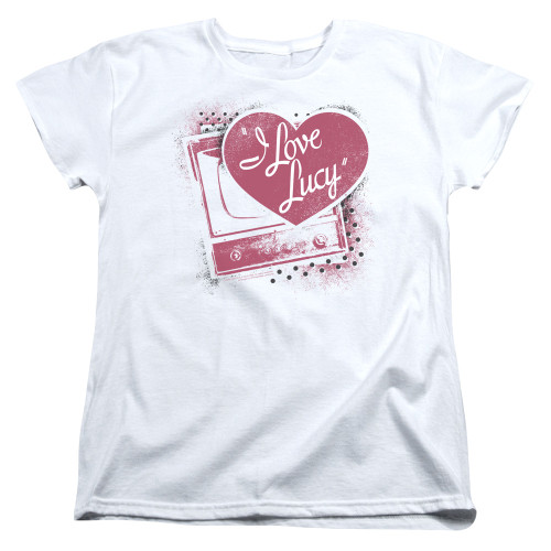 Image for I Love Lucy Woman's T-Shirt - Spray Paint Heart