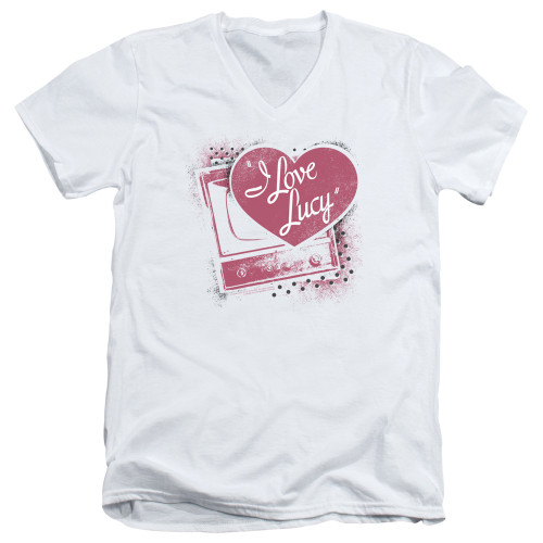 Image for I Love Lucy T-Shirt - V Neck - Spray Paint Heart