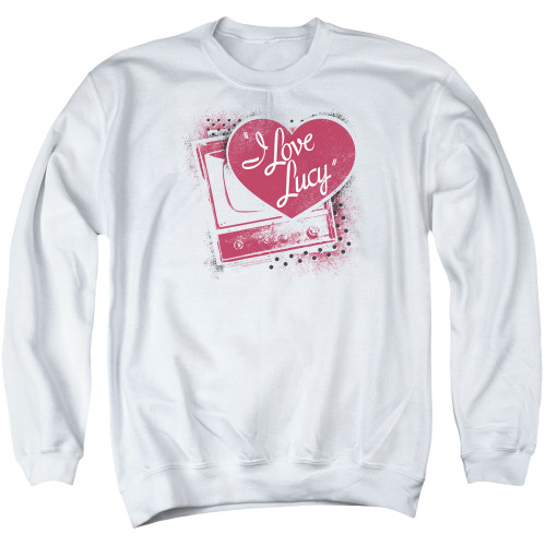 Image for I Love Lucy Crewneck - Spray Paint Heart
