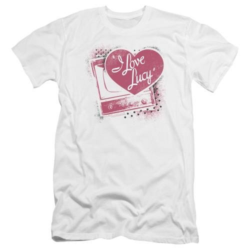 Image for I Love Lucy Premium Canvas Premium Shirt - Spray Paint Heart
