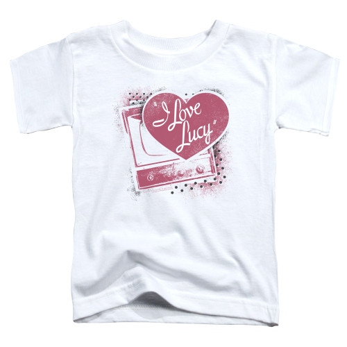 Image for I Love Lucy Toddler T-Shirt - Spray Paint Heart