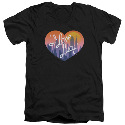 Image for I Love Lucy T-Shirt - V Neck - Heart of the City