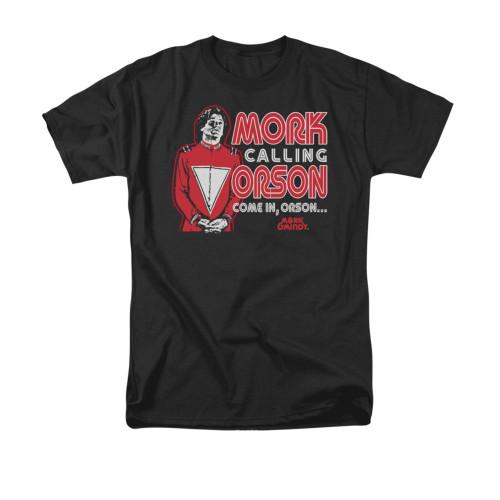 Image for Mork & Mindy T-Shirt - Mork Calling Orson