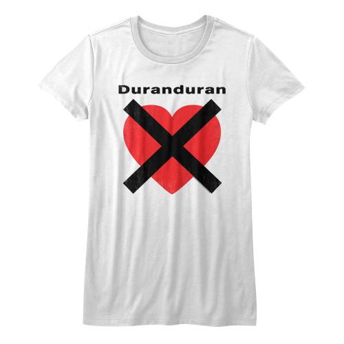 Image for Duran Duran Girls T-Shirt - Heart X