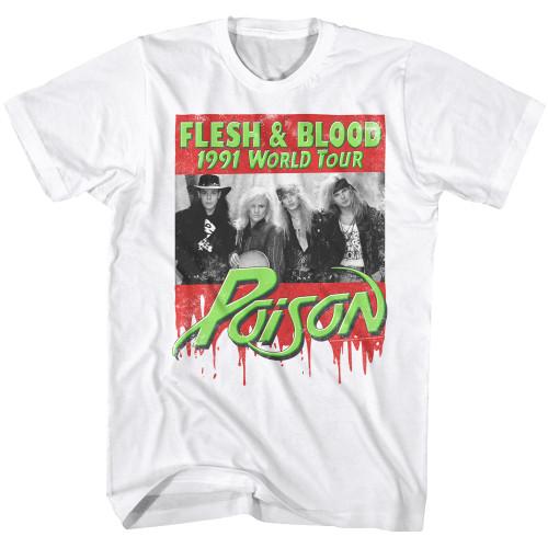 Image for Poison T-Shirt - Flesh & Blood World Tour