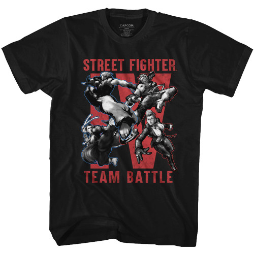 Image for Street Fighter Team Battle Heather T-Shirt
