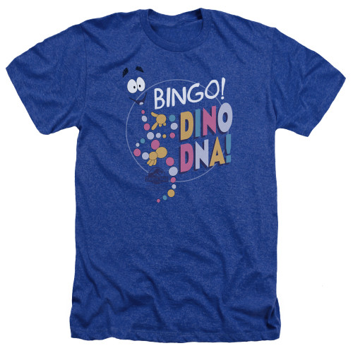 Image for Jurassic Park Heather T-Shirt - Bingo Dino DNA
