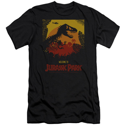 Image for Jurassic Park Premium Canvas Premium Shirt - Welcome to JP