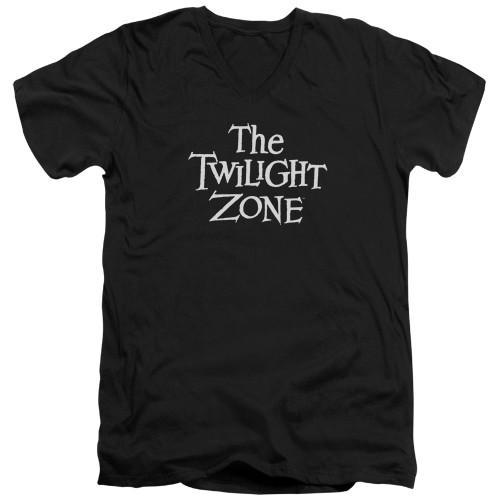 Image for The Twilight Zone T-Shirt - V Neck - Logo