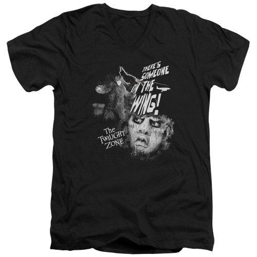 Image for The Twilight Zone T-Shirt - V Neck - Someone on the Wing