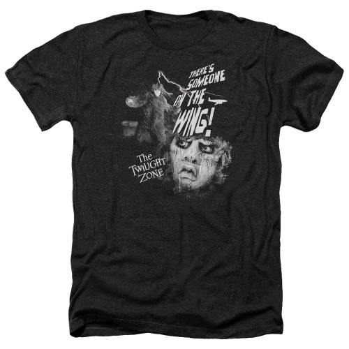 Image for The Twilight Zone Heather T-Shirt - Someone on the Wing
