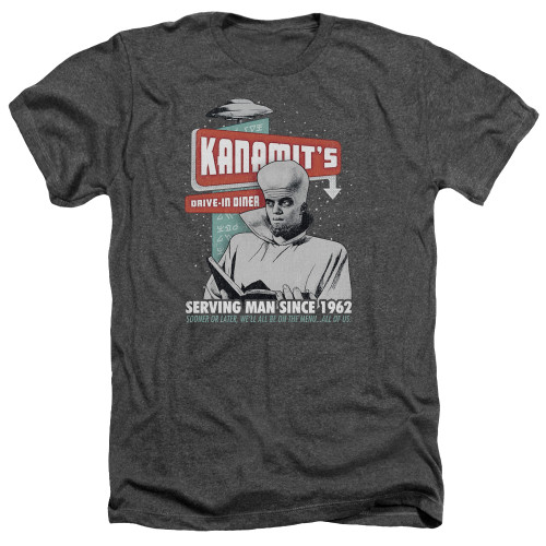 Image for The Twilight Zone Heather T-Shirt - Kanamits Diner