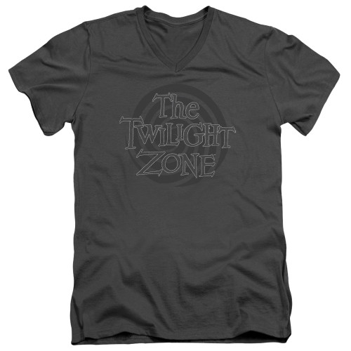 Image for The Twilight Zone T-Shirt - V Neck - Spiral Logo