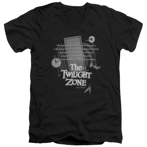 Image for The Twilight Zone T-Shirt - V Neck - Monologue