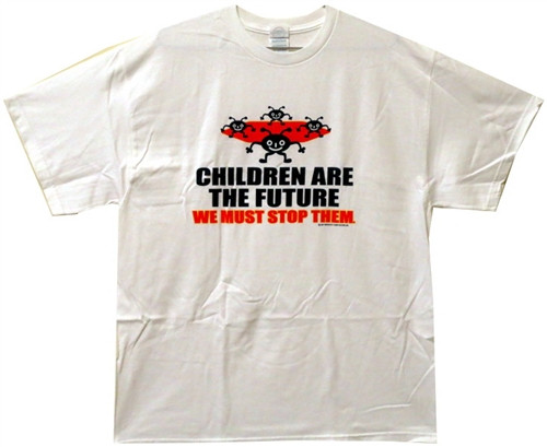 Image Closeup for Children are the Future. We must stop them T-Shirt
