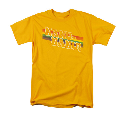 Image for Mork & Mindy T-Shirt - Nanu Nanu Rainbow